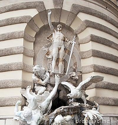 Detail Hofburg, Vienna