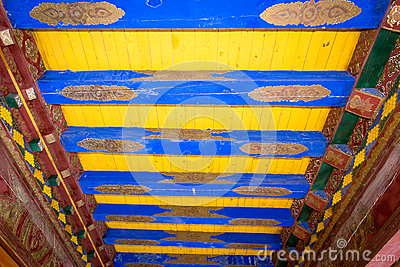 Detail of a house at Lijiang Shuhe Chama Ancient Town Stock Photo
