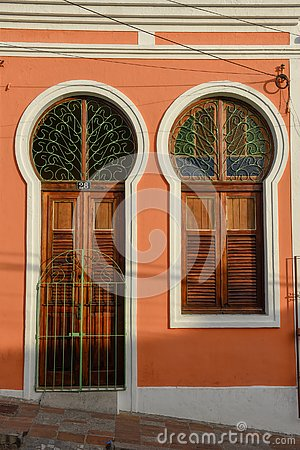 Detail of a house at Olinda, Brazil Editorial Stock Photo