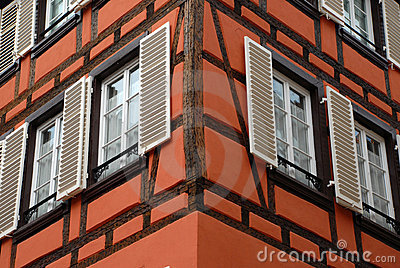 Detail of house in Strasbourg