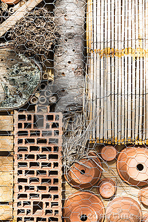 Free Detail Insect Hotel Stock Photography - 38433712
