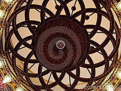 Detail inside Qishas Mosque, Jeddah