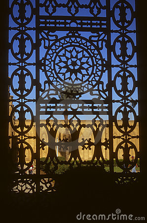 Detail, ironwork window,  Mosque of Mohammed Ali