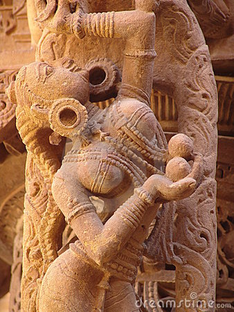 Free Detail, Jain Temple, Jaisalmer Stock Images - 7336974