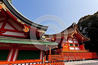 Detail of Japanese shrine roof