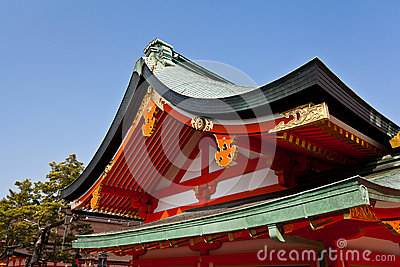 Detail of Japanese shrine roof