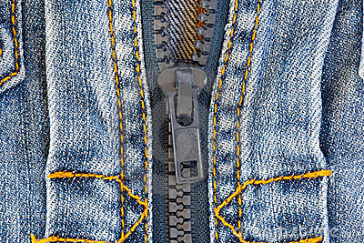 Detail of jeans jacket