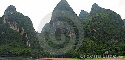 Detail of the jungle mountains