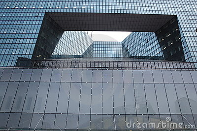 Detail of La defense architecture Editorial Photo