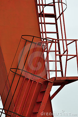 Detail of ladder for construction equipment