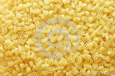 Detail of Macaroni pasta as a background