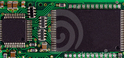 Detail of microchip