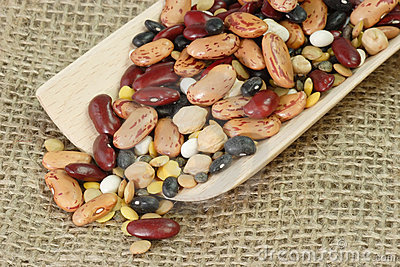 Detail from mixed dried Beans