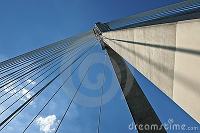 Detail of modern bridge abstract architecture