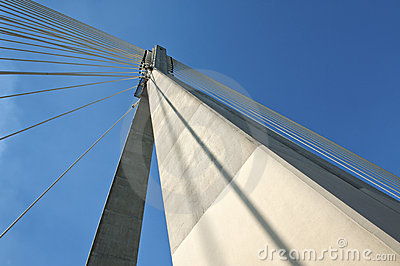 Detail of modern bridge architecture.