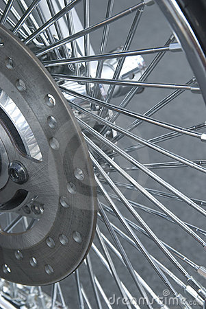 Detail of motorbike wheel