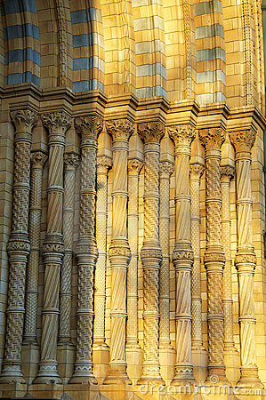 Detail of National History Museum in London