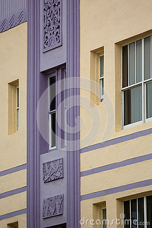 Free Detail Of A Classical Art Deco Facade On Ocean Drive In Miami Be Royalty Free Stock Photography - 34971467