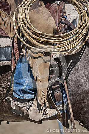 Free Detail Of A Cowboy At Work Royalty Free Stock Photo - 54039355