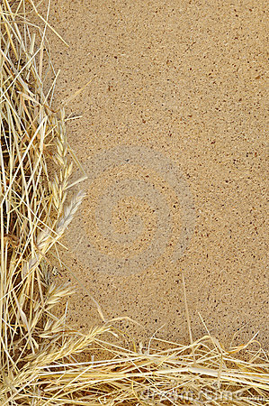 Free Detail Of Dry Grass Hay And OSB, Oriented Strand B Royalty Free Stock Photography - 17673717