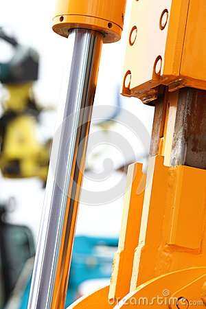 Free Detail Of Hydraulic Bulldozer White Background Royalty Free Stock Image - 33899326