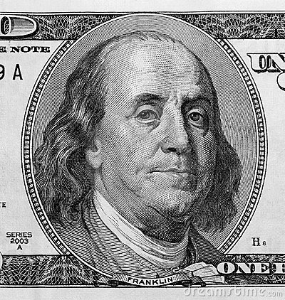 Free Detail Of Portrait On One Hundred Dollar Bill Royalty Free Stock Photos - 1525918