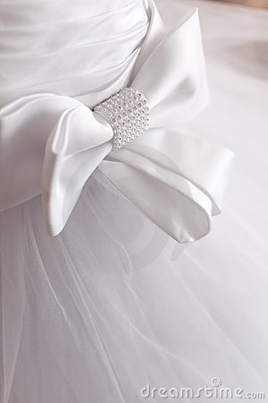 Free Detail Of Wedding Dress Stock Images - 4464914