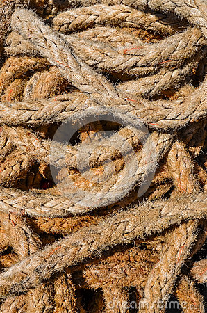 Detail of old marine rope