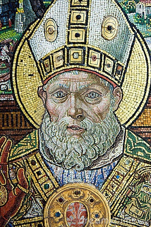 Detail of an old mosaic