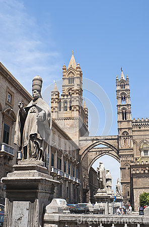 Detail of Palermo cathedral