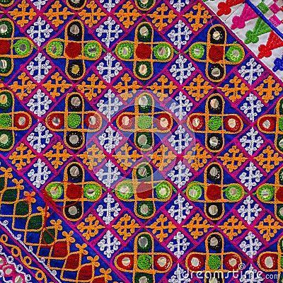 Free Detail Patchwork Carpet. Stock Image - 96801561