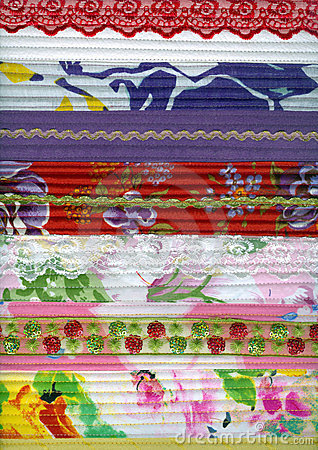Detail of patchwork fabric handmade