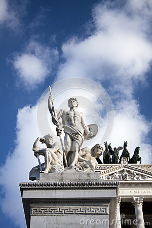 Detail of Piazza Venezia