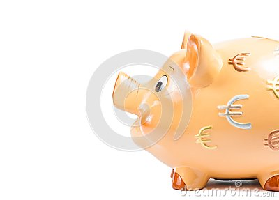 Detail of piggy bank, concept for business and save money