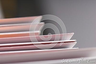 Detail of plain folders.