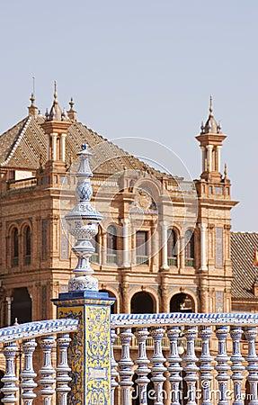Detail of Plaza de Espana in Seville