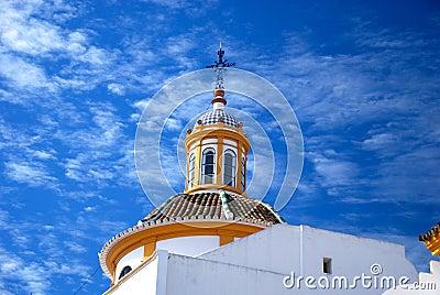 Detail of plaza de Toros, Sevilla, Spain
