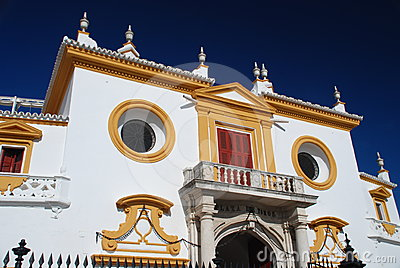 Detail of plaza de Toros, Sevilla, Spain