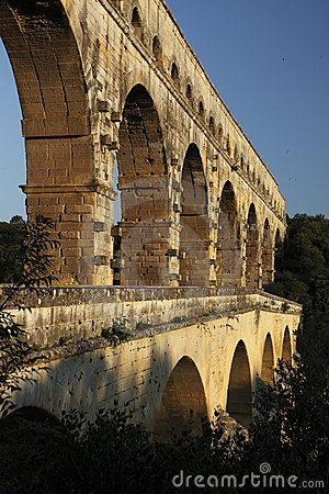 Detail of Pont du gard