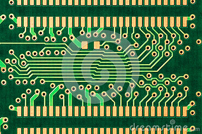 Detail of a printed circuit board