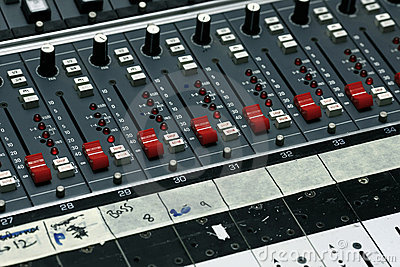 Detail from a recording studio