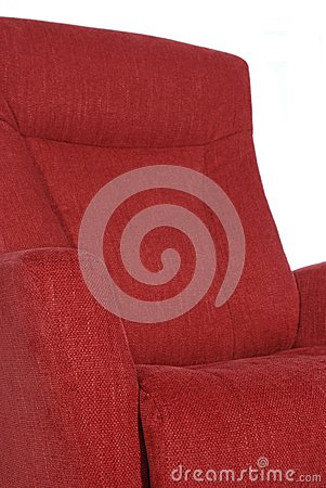 Detail of red recliner