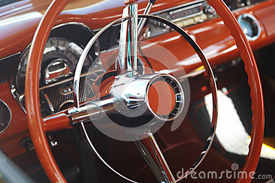 Detail of retro car
