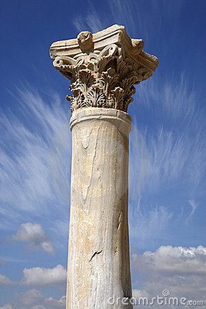 Detail of a roman column