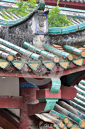 Detail of roof and eave, Chinese old architecture