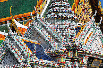 Detail of roofs at Grand palace