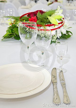 Detail of served table