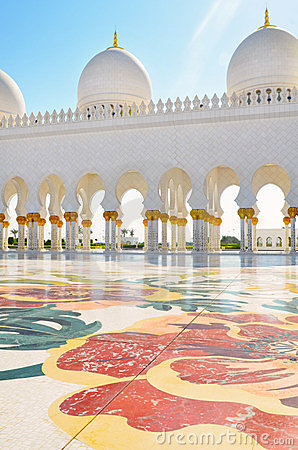 Detail of Sheikh Zayed Mosque in Abu Dhabi, UAE