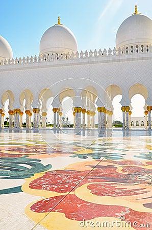 Detail of Sheikh Zayed Mosque in Abu Dhabi, UAE