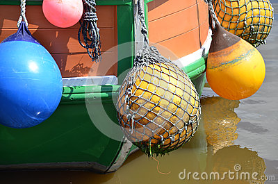 Detail of a shrimp boat